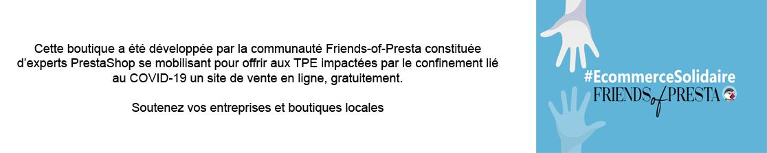 e-commerce solidaire par Friends of Presta : votre site e-commerce offert
